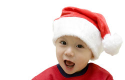 Christmas santa baby Stock Images