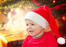 Christmas Santa Baby Royalty Free Stock Photos