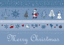 Christmas santa background. This is file of EPS8 format Royalty Free Stock Photography