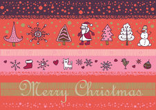 Christmas santa background. This is file of EPS8 format Stock Photos