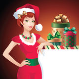 Christmas Santa beauty message banner Royalty Free Stock Photo