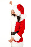 Christmas santa billboard Stock Photos