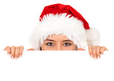 Christmas santa billboard Stock Photo