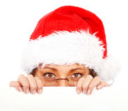 Christmas santa billboard Royalty Free Stock Images