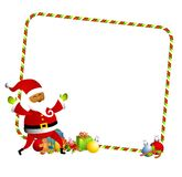Christmas Santa Border 2 Royalty Free Stock Image