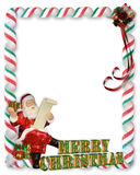 Christmas Santa Border illustration 3D Stock Image