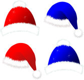 Christmas santa caps Royalty Free Stock Images