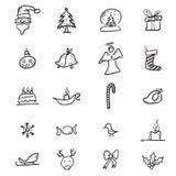 Christmas and Santa cartoon drawing Stock Images