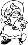 Christmas Santa cartoon Vector Clipart Stock Photos