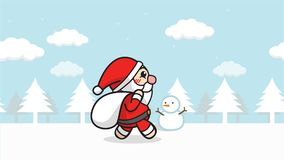 Merry Christmas Falling Presents Animation Stock Footage - Video of