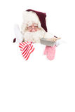 Christmas Santa Claus as cook Stock Image