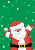Christmas Santa Claus. Background for Christmas party with cute Santa Claus Stock Photo