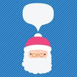 Christmas Santa Claus with bubble speech Stock Photography
