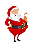Christmas Santa Claus with candy Stock Images