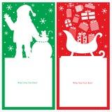 Christmas Santa Claus card Stock Images