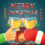 Christmas with Santa Claus Celebration Success  Royalty Free Stock Images