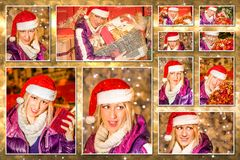 Christmas Santa Claus collage Royalty Free Stock Image