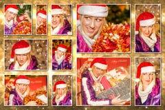 Christmas Santa Claus collage Stock Image