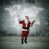 Christmas, santa claus. Concepts of santa claus on christmas, expressions and lifestyle Stock Photos