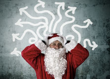 Christmas, santa claus. Concepts of santa claus on christmas, expressions and lifestyle Stock Photography