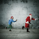 Christmas, santa claus. Concepts of santa claus on christmas, expressions and lifestyle Royalty Free Stock Photography