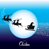 Christmas Santa Claus Driving in a Sledge Vector Stock Image