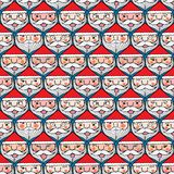 Christmas santa claus emotion face seamless pattern Royalty Free Stock Photography