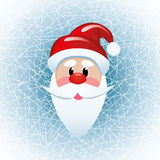 vector Christmas  santa claus face Stock Photography