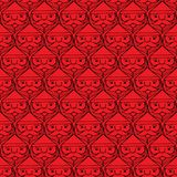 Christmas santa claus faces monotone seamless pattern Stock Photos