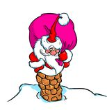 Christmas Santa Claus gift bag pipe Royalty Free Stock Photos