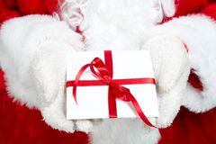 Christmas  Santa Claus with gift Royalty Free Stock Image