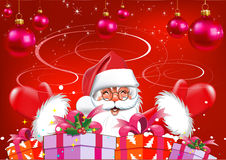 Christmas. Santa Claus with gifts. Royalty Free Stock Photo
