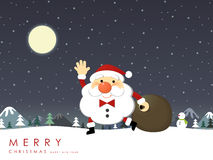 Christmas Santa Claus greeting graphic Royalty Free Stock Photography