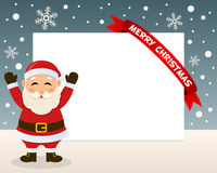 Christmas Santa Claus Horizontal Frame Royalty Free Stock Photos