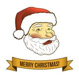Christmas santa claus icon Royalty Free Stock Photography