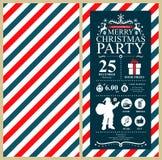 Christmas Santa Claus Invitation Card Stock Photo