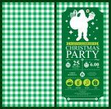 Christmas Santa Claus Invitation Card Royalty Free Stock Photos