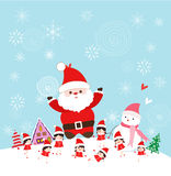 Christmas with santa claus and kids funny Royalty Free Stock Image