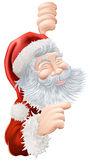 Christmas Santa Claus Pointing Stock Photos