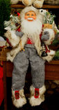 Toy, puppet,cloth,santaclaus, christmas. Santa claus cloth puppet sit on the table Royalty Free Stock Images
