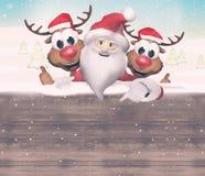 Christmas Santa Claus Reindeer Stock Photos