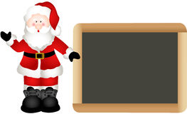 Christmas Santa Claus with School Board Stock Image
