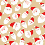 Christmas santa claus seamless pattern Stock Photos
