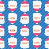Christmas Santa Claus seamless pattern background Stock Photos