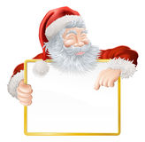 Christmas Santa Claus Sign Stock Photo