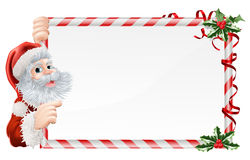 Christmas Santa Claus Sign Royalty Free Stock Photos