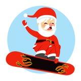 Christmas Santa Claus Snowboarding Royalty Free Stock Photography