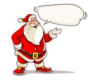 Christmas Santa Claus speaking with message cloud. Stock Illustration