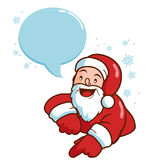 Christmas Santa Claus with speech bubble Stock Images
