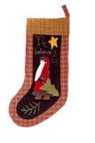 Christmas santa claus Stocking Stock Photography